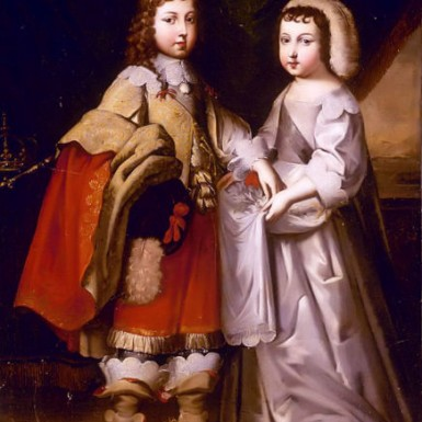 https://commons.wikimedia.org/wiki/File:Portrait_of_King_Louis_XIV_and_his_Brother,_Duc_D'Orleans.jpg Public domain. Wikimedia Commons ©