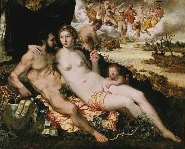 Vénus et Mars de Frans Floris.