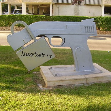 https://en.wikipedia.org/wiki/File:PikiWiki_Israel_20285_quot;Stop_Violencequot;_sculpture_in_Petah_Tikva.JPG Creative Commons Attribution 2.5 Generic © Attribution: Dr. Avishai Teicher