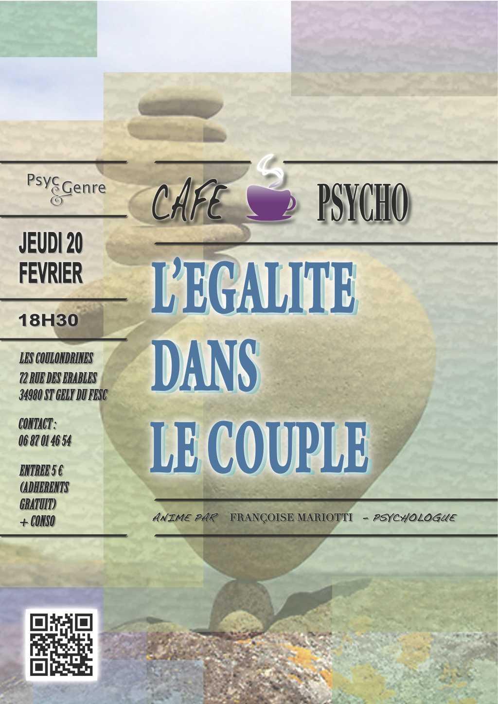 """Café psycho : """"L'égalité dans le couple"""""""