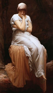https://en.wikipedia.org/wiki/File:Frederick_Leighton_-_Solitude.jpg Public domain. Wikimedia Commons ©