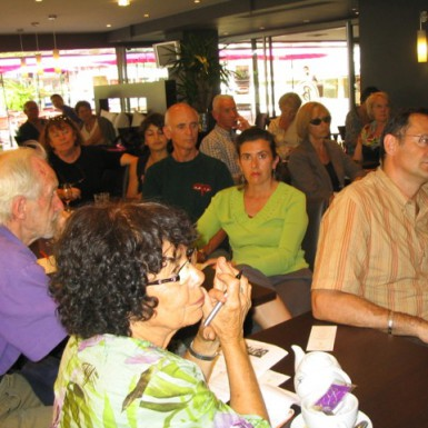 Comédie du Livre dédiée aux auteurEs américainEs au restaurant Bermuda  Clafoutis.